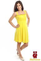 Ночная рубашка для беременных и кормления, желтый