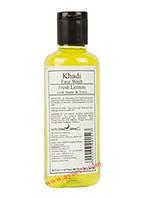 Гель для умывания со свежым лимоном, нимом и тулси / Khadi Face Wash, Fresh Lemon with Neem & Tulsi / 100 ml