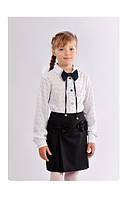 Школьная юбка прямого кроя с бантиками