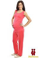 Штаны для беременной трикотажные, пудра