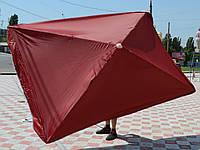 Зонт прямоугольный с клапаном 2x3 м для торговли, отдыха на природе (4 метал. спицы, цвета в асс.) DJV /N-82