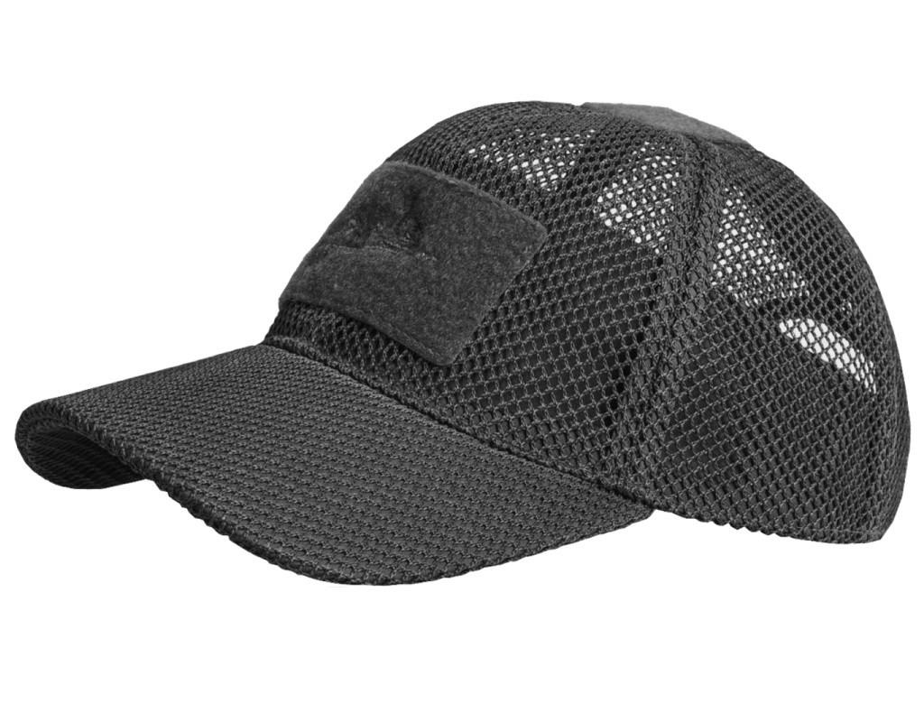 Бейсболка річна для спекотної погоди Helikon-Tex Baseball MESH Black Cap CZ-BBM-PO-01