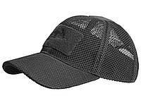 Бейсболка летняя для жаркой погоды Helikon-Tex Baseball MESH Cap Black CZ-BBМ-PO-01