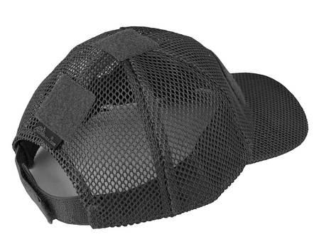 Бейсболка річна для спекотної погоди Helikon-Tex Baseball MESH Black Cap CZ-BBM-PO-01, фото 2