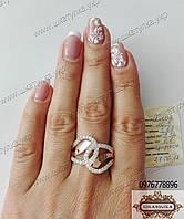 Серебряное кольцо из фианитами Хлоя