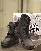 Ботинки тактические на молнии, black, фото 1