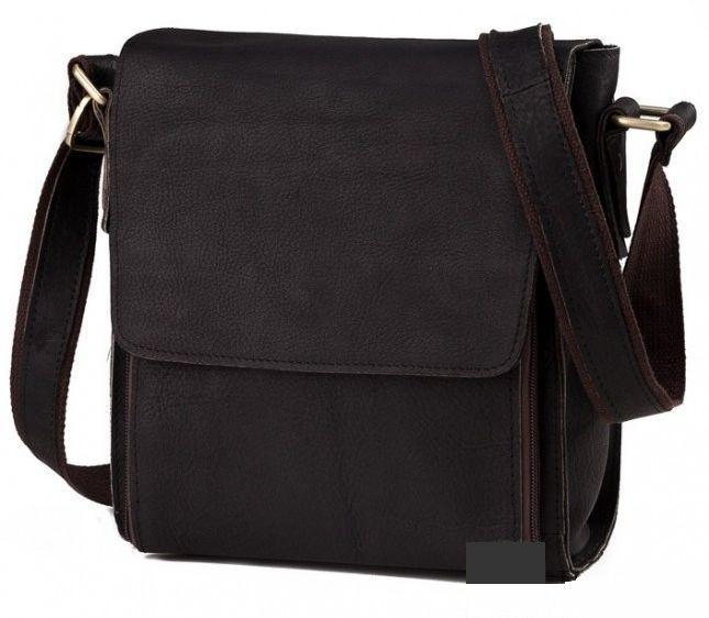 7e94617095c3 Мужская сумка из натуральной кожи Tiding Bag; G8843-1A, чёрный ...