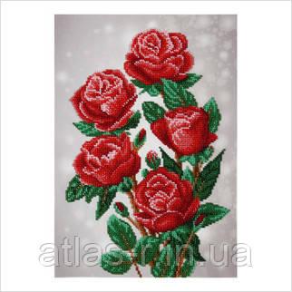 """Схема для частичной вышивки бисером """"Красные розы"""""""
