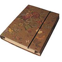 Папка - короб на резинке для тетрадей 185*218  КРАФТ покрытие