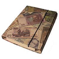 Папка-короб для зошитів (папка для тетрадей) на резинці, А5, КРАФТ