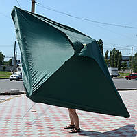 Зонт квадратный с клапаном (3x3 м) для торговли, отдыха на природе (4 метал. спицы, цвета в асс.) DJV /N-13