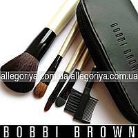 Кисти под макияж Бобби Браун 5 шт в чехле реплика