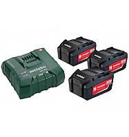 Базовый комплект аккумуляторов Metabo Basic-Set ASC Ultra 3x5,2 Ач