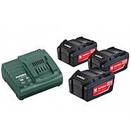 Базовый комплект аккумуляторов Metabo Basic-Set 3x4,0 Ач
