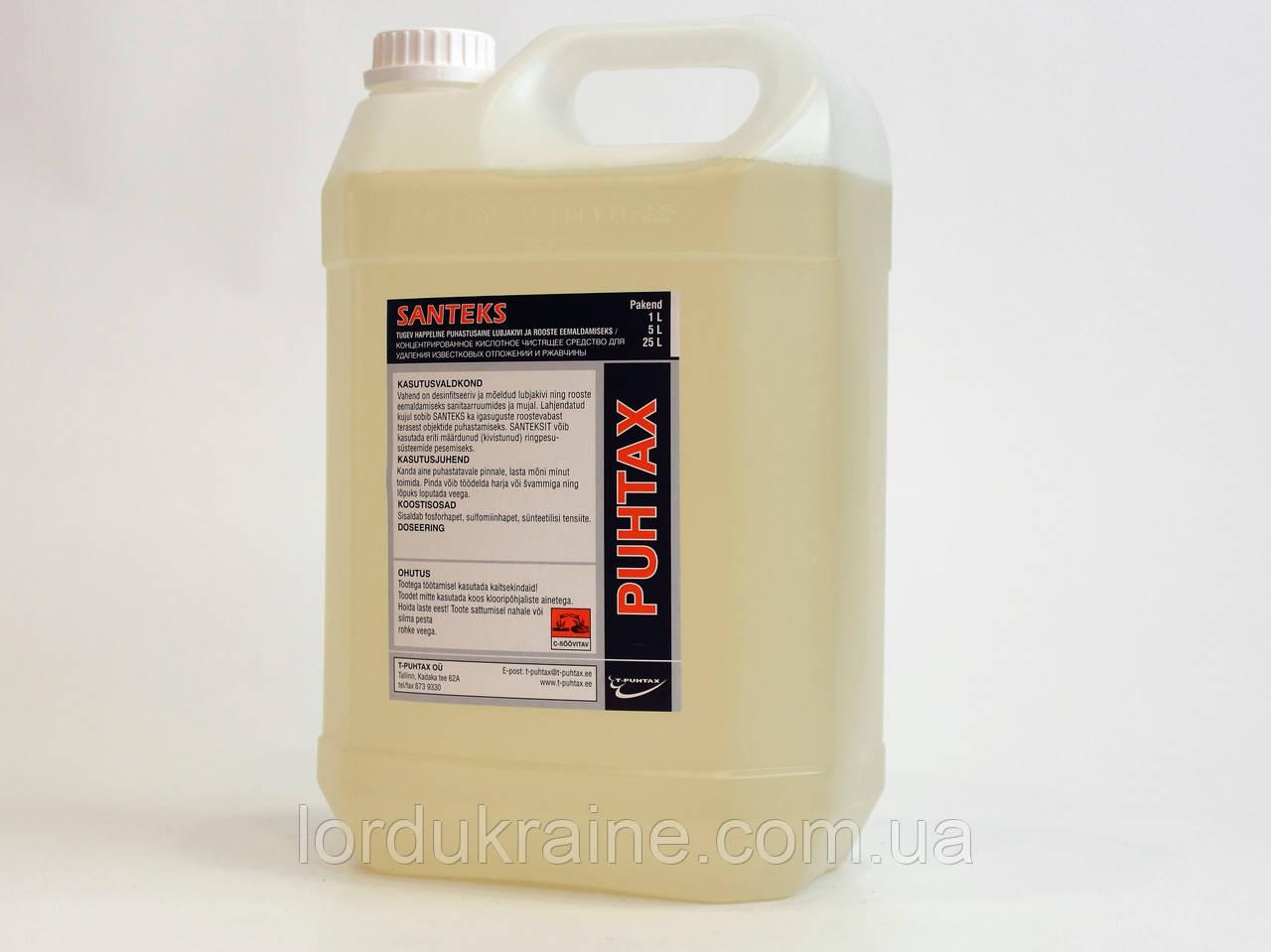 Сильнодействующее кислотное чистящее средство для удаления ржавчины и известкового налета SANTEKS, 20 литров