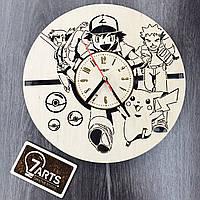 Часы настенные с забавным дизайном «Покемоны»