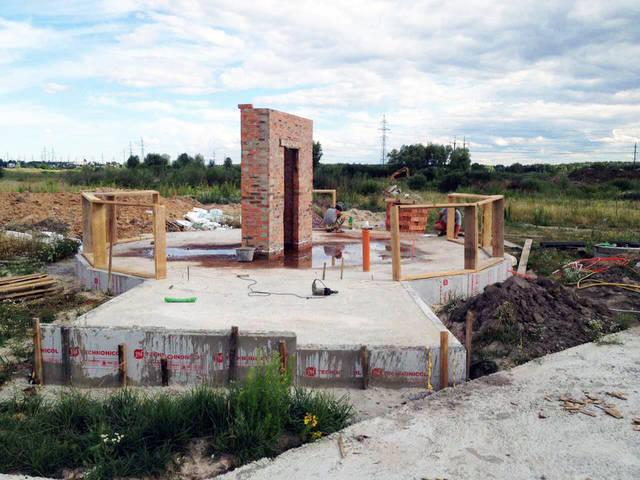 УШП и каминная зона. Купольный дом