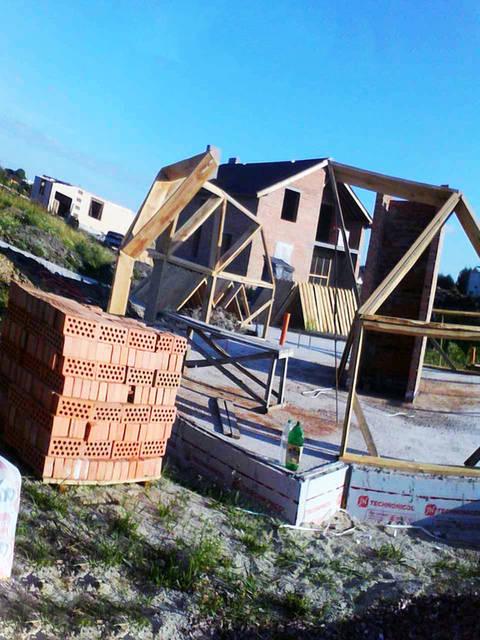 Строительство каркаса купольного дома