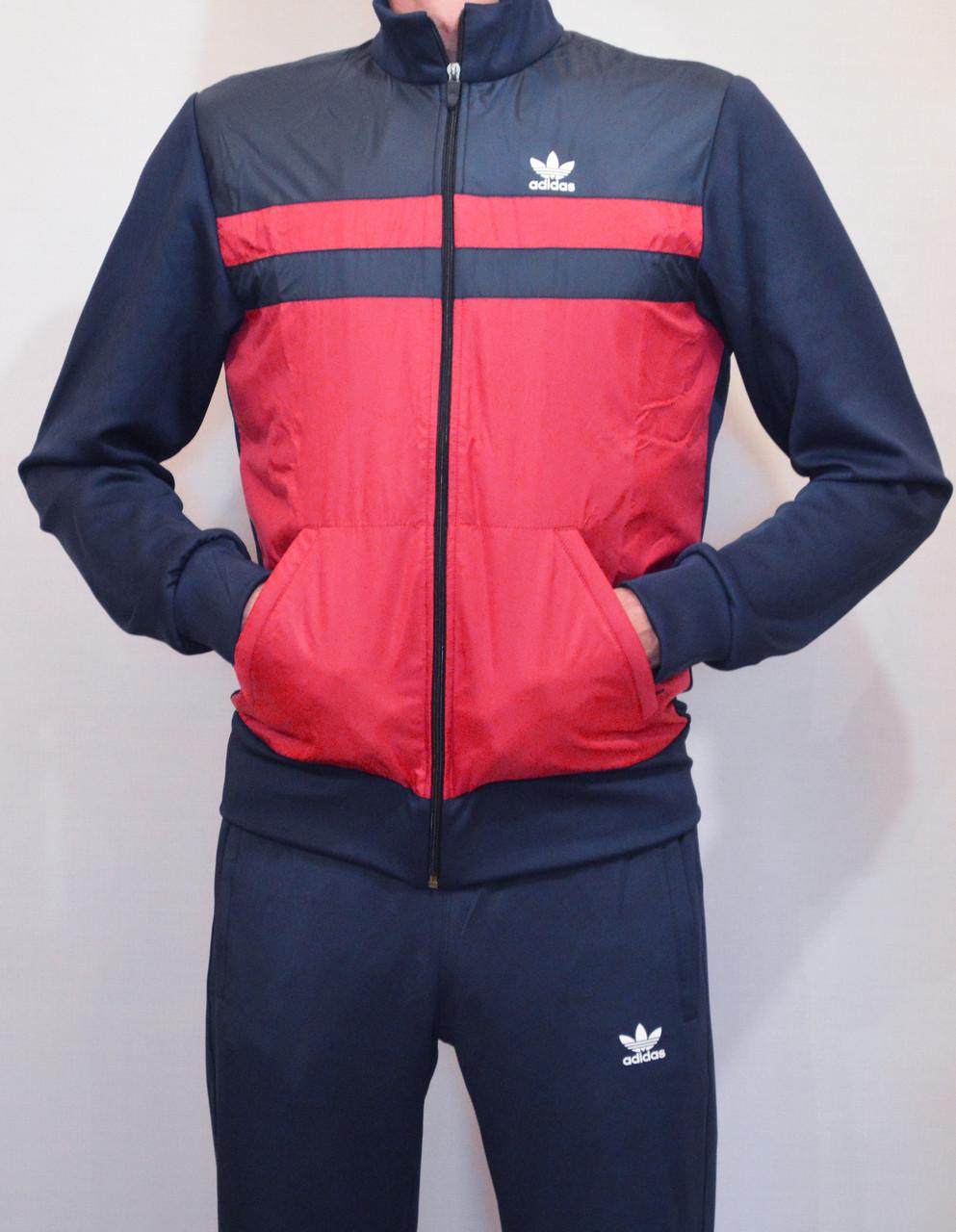 Мужской спортивный костюм эластик Adidas№1415 (2XL) (Реплика) (Реплика) 4eab02fe4a9