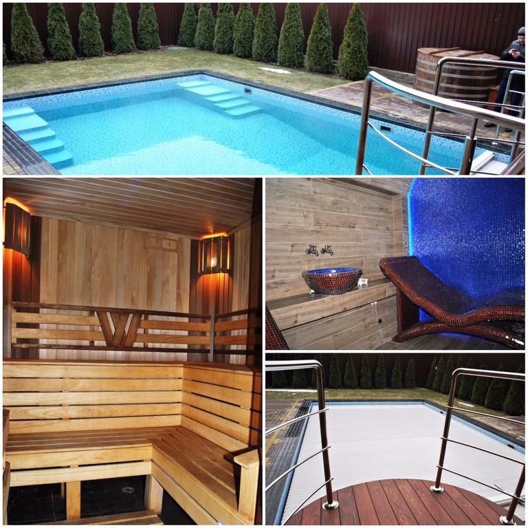 Плавательный внешний бассейн для частного использования