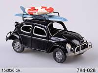 Декоративная фигурка Авто серфингиста ,металл