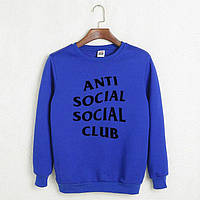 Крутой свитшот Anti Social Social Club  (синий, красный)