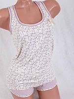 Модный комплект для дома майка+шорты 4148