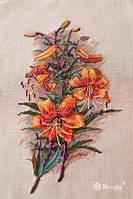 Набор для вышивки крестиком К-90 Винтажные лилии Aida 16