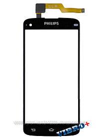 Тачскрин (сенсор) Philips Xenium I908, black (черный)