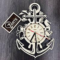 Деревянные настенные часы «Якорь»