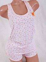 Женский комплект для дома майка+шорты 4090