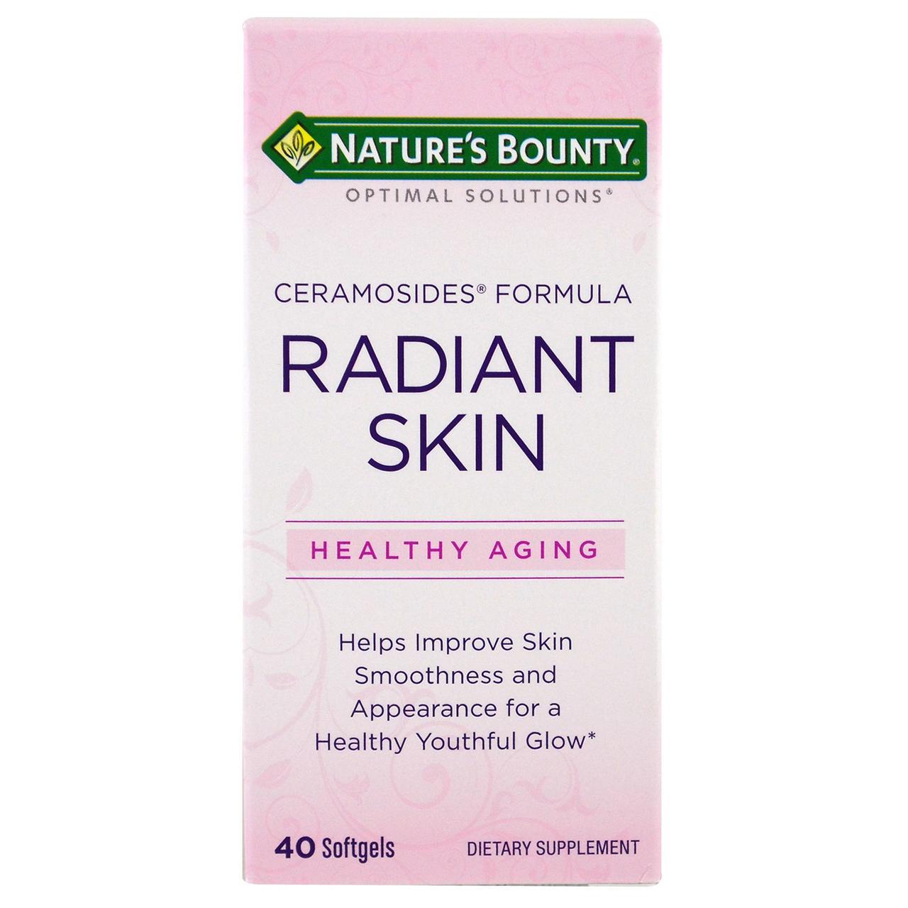Фитокерамиды Nature's Bounty формула с керамозидами  для сияющей кожи Optimal Solutions, 40 капсул