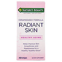 Фитокерамиды Nature's Bounty формула с керамозидами  для сияющей кожи Optimal Solutions, 40 капсул, фото 1