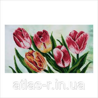 """Схема для частичной вышивки бисером """"Весенние тюльпаны"""""""