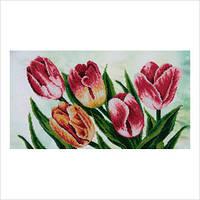 """Схема для часткової вишивки бісером """"Весняні тюльпани"""""""