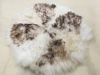 Накидка на стулья из кусочков  натуральной  овчины круглая