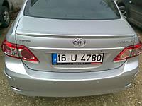 Задний спойлер под покраску на Toyota Corolla 2007-2013