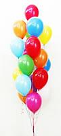 Букет гелиевых шаров Фонтан Ассорти 15
