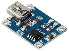 Контроллер заряда TP4056 для Li-ion аккумуляторов 3,7v с miniUSB