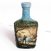 Оригинальный подарок для мужчины рыбака на день рождения  Декор бутылки Заядлому рыбаку