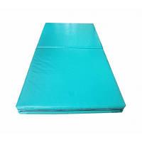 Мат гимнастический складной 400-100-8 см с 4-х частей Тia-sport
