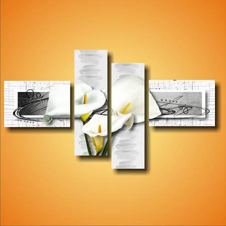 """Модульная картина цветы """"Белые каллы. Полиптих"""""""