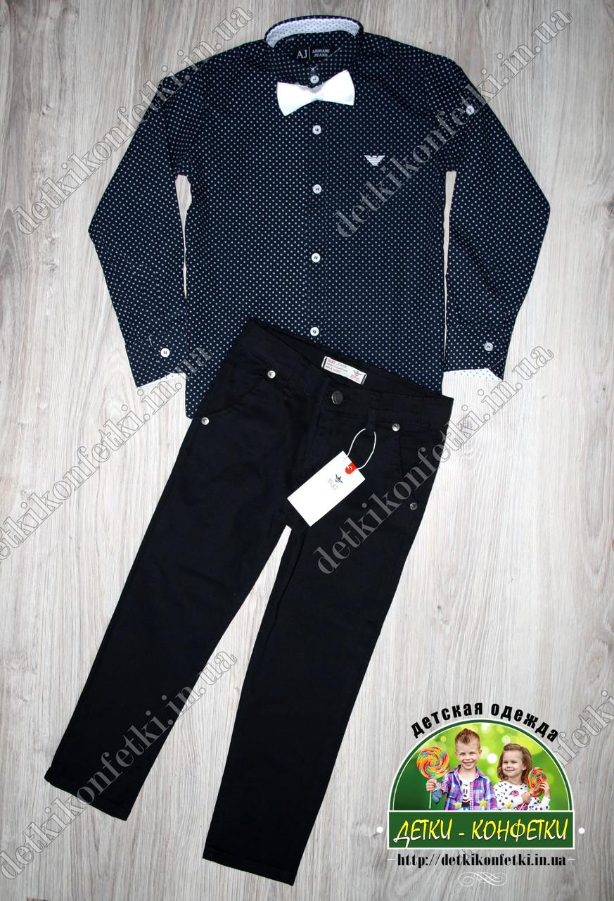 Комплект для мальчика: темно-синяя рубашка Armani и черные брюки - Детки-конфетки в Запорожье
