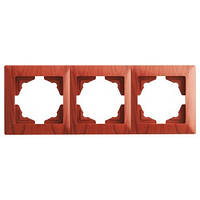 Visage Красное дерево Рамка тройная горизонтальная