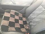 Накидка на стулья из кусочков натуральной цигейки  квадратная, фото 2