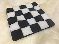 Накидка на стулья из кусочков натуральной цигейки  квадратная