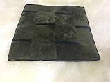 Накидка на стулья из кусочков натуральной цигейки  квадратная, фото 6