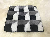 Накидка на стулья из кусочков натуральной цигейки  квадратная, фото 4