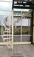 Перила кованой винтовой лестницы