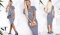 Платье в полоску 3519 Волох